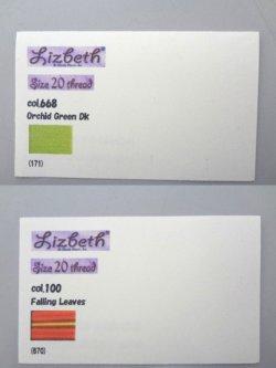 画像2: Lizbeth 台紙 全色206色  #20 色見本付